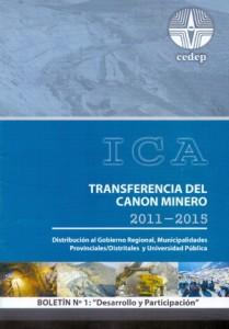 Transferencia del Cano Minero en Ica 2011-2015
